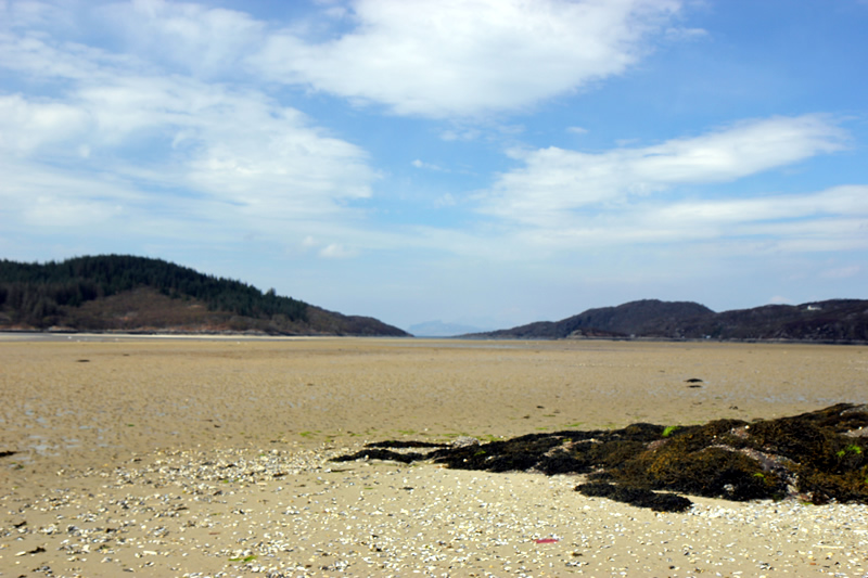 Beach near Macneils Croft Self catering house on shore of Arivegaig Bay, Ardnamurchan Scotland