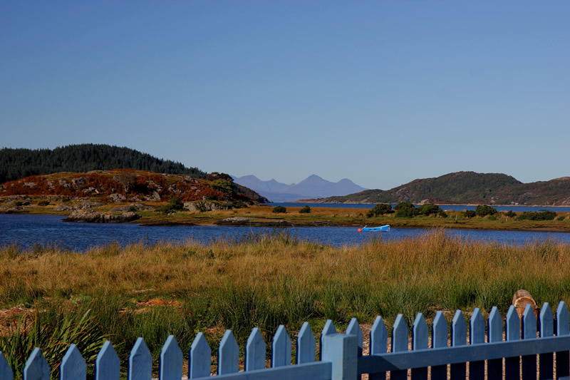Location of Macneils Croft Self catering house on shore of Arivegaig Bay, Ardnamurchan Scotland