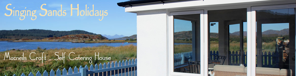 Self catering house on shore of Arivegaig Bay, Ardnamurchan Scotland
