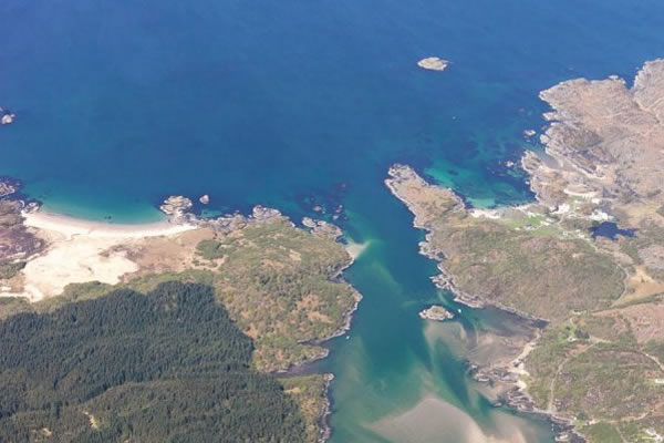 The Singing Sands and Ardtoe, lovely walks from Self catering caravans on shore of Arivegaig Bay, Ardnamurchan Scotland